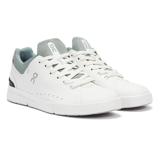 On Running The Roger Advantage Mens White / Eucalyptus Trainers