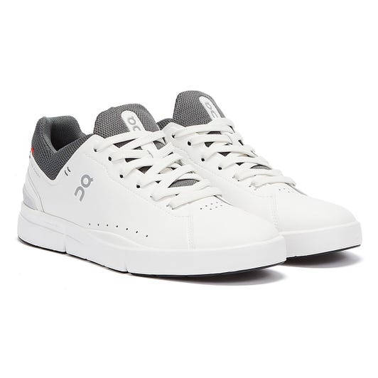 On Running The Roger Advantage Mens White / Rock Trainers