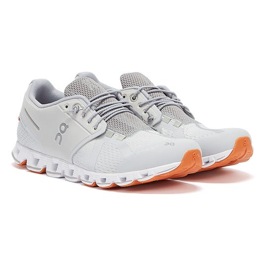 On Running Cloud Womens Glacier / White Trainers