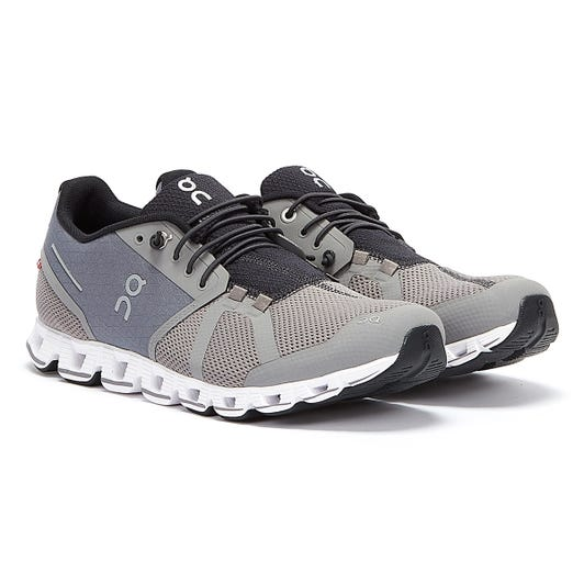On Running Cloud Mens Zinc / White Trainers
