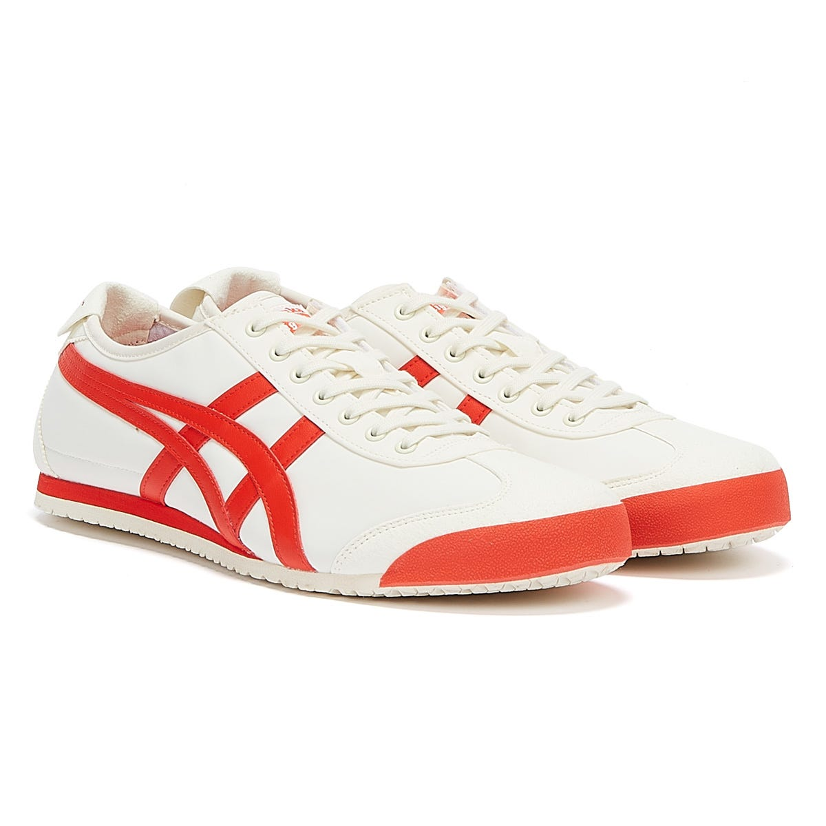 Trainers & Running Shoes Onitsuka Tiger Mexico 66 Mens Cream / Fiery Red Trainers