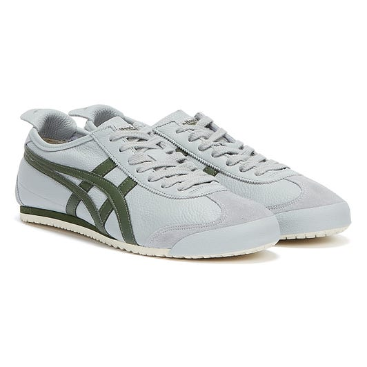 Onitsuka Tiger Mexico 66 Mens Mid Grey / Pine Trainers