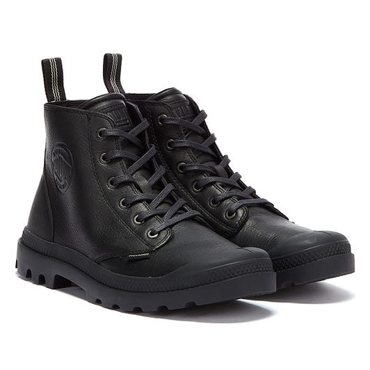 Palladium Pampa Leather Essential Mens Black Boots