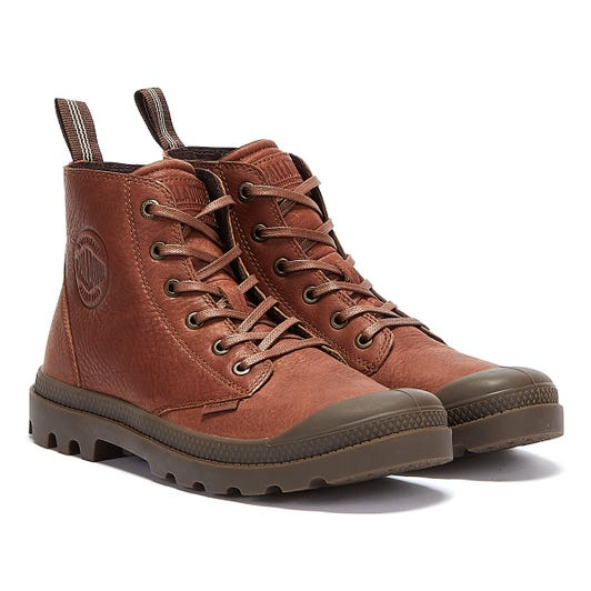 Palladium Pampa Leather Essential Mens Brown Boots