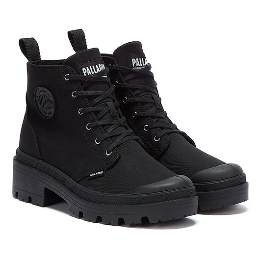 Palladium Pallabase Twill Womens Black Boots