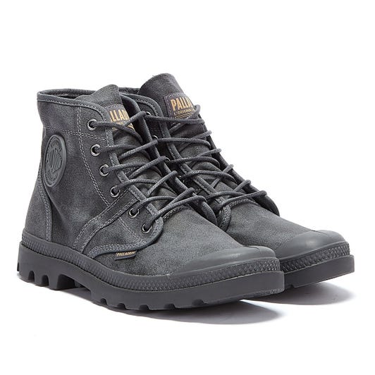 Palladium Pallabrousse Wax Mens Grey Boots