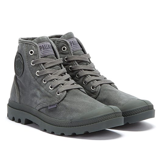 Palladium Pampa Hi Mens Metal Black Boots