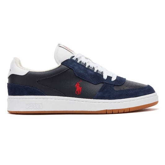 Ralph Lauren Polo Court Mens Navy / Red Trainers