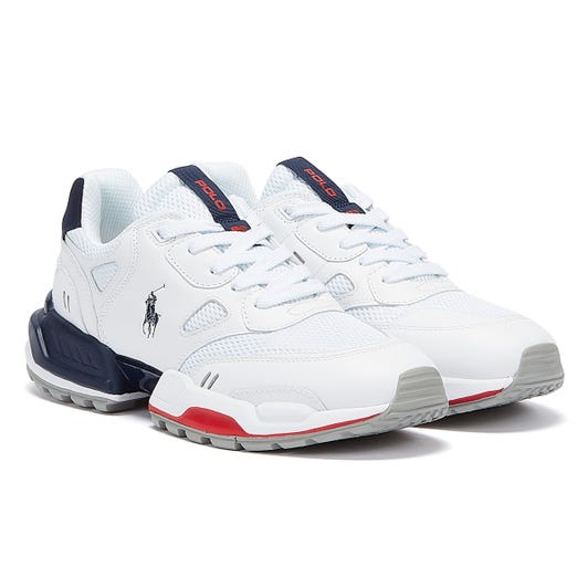 Ralph Lauren Polo Jogger Mens White / Newport Navy / RL2000 Red Trainers