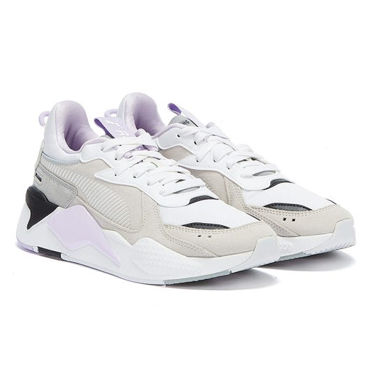 PUMA RS-X Reinvent Womens White / Grey / Purple Trainers