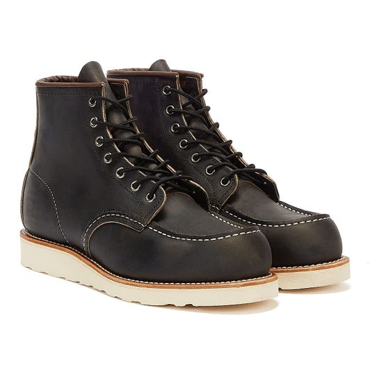 Red Wing Shoes Classic Moc Toe Mens Charcoal Black Boots