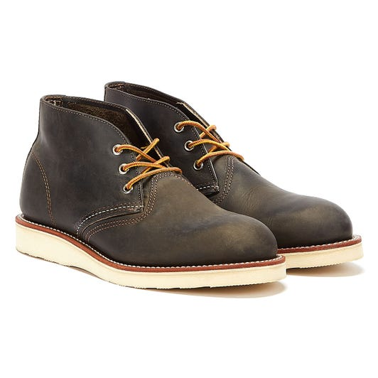 Red Wing Shoes Mens Charcoal Rough Work Chukka Boots