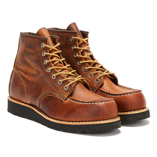 Red Wing Shoes Classic Moc Toe Mens Copper Brown Boots