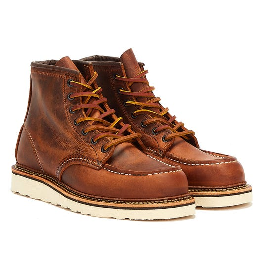 Red Wing Shoes Classic Moc Toe R&T Mens Copper Brown Boots