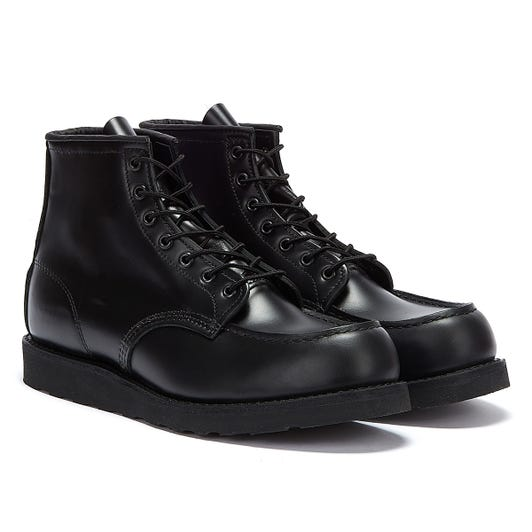 Red Wing Shoes Classic Moc Toe Mens Chrome Black Boots