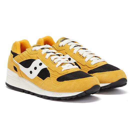 Saucony Shadow 5000 Vintage Mens Mustard / Black Trainers