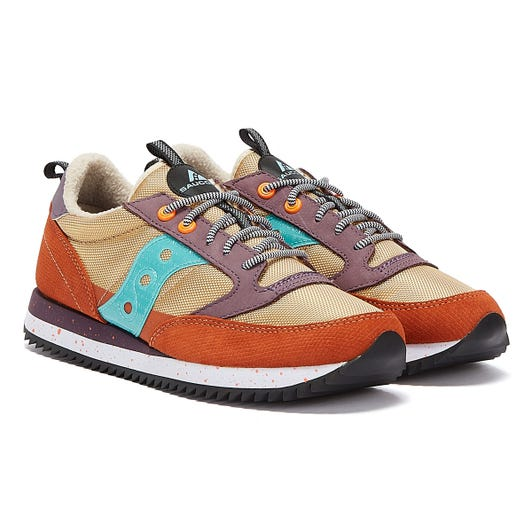 Saucony Jazz Original Peak Mens Brown / Purple Trainers