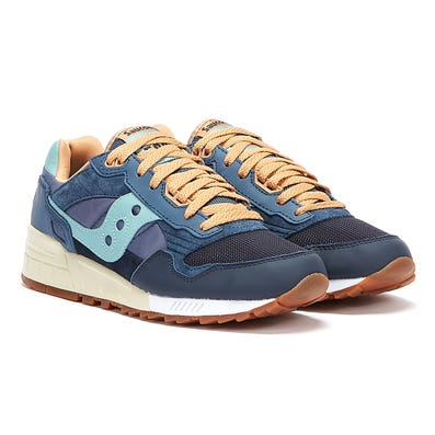 Saucony Shadow 5000 Vintage Mens Navy / Tan Trainers