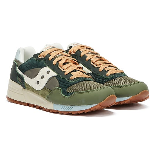 Saucony Shadow 5000 Vintage Mens Forest / Tan Trainers