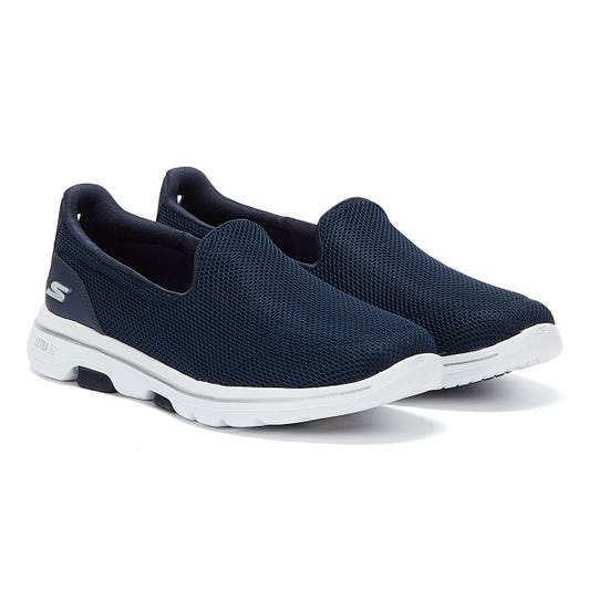 Skechers Go Walk 5 Womens Navy / White Trainers