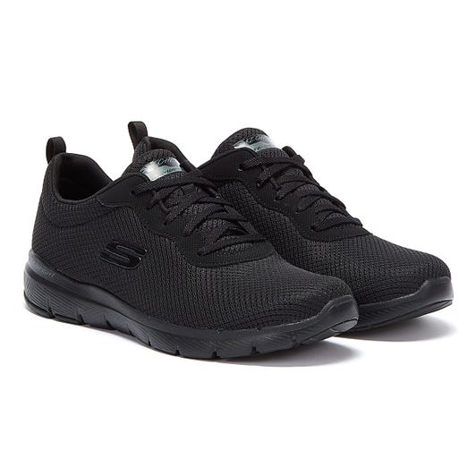 Skechers Flex Appeal 3 First Insight Womens Black Trainers