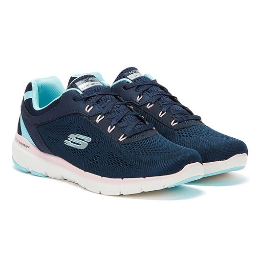 Skechers Flex Appeal 3.0 Steady Womens Navy Trainers