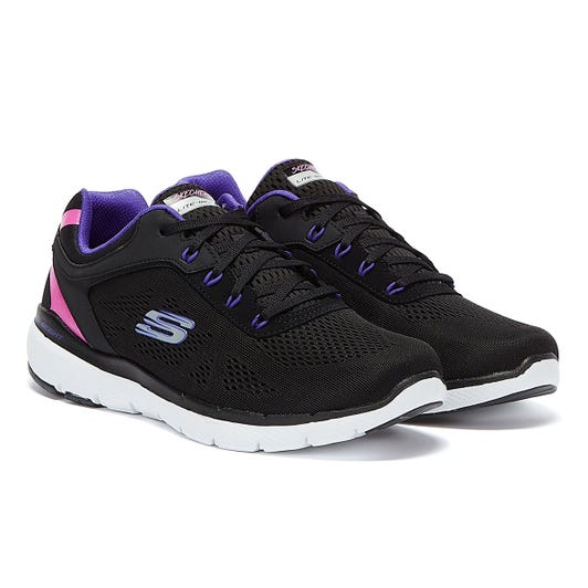 Skechers Flex Appeal 3.0 Steady Womens Black Trainers
