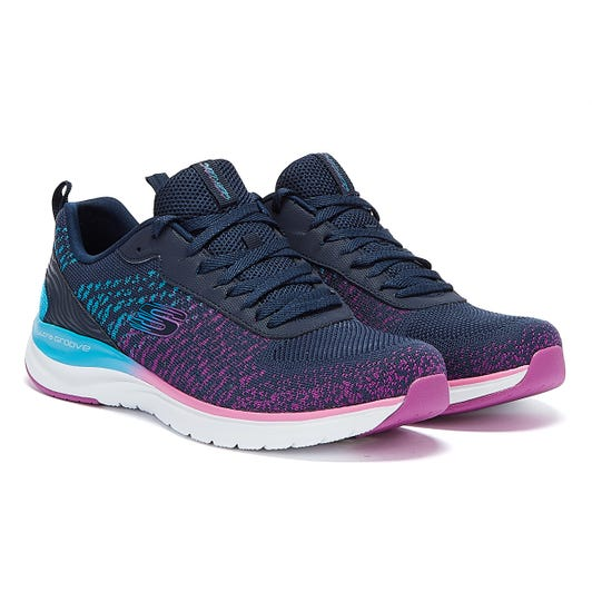 Skechers Ultra Groove Glamour Quest Womens Navy / Multi Trainers