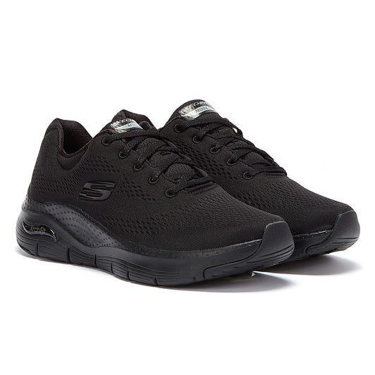 Skechers Arch Fit Big Appeal Womens Black / Black Trainers