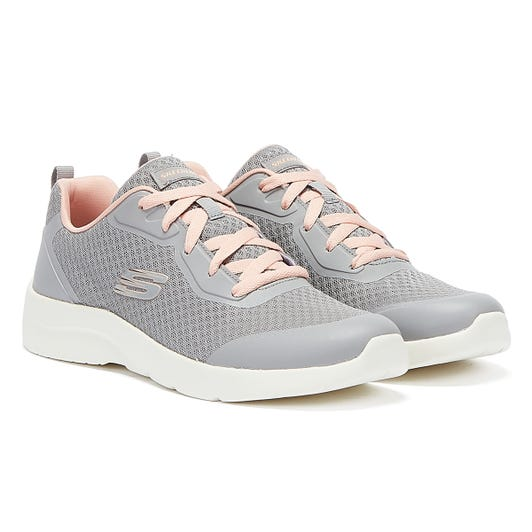 Skechers Dynamight 2.0 Womens Grey / Hot Pink Trainers