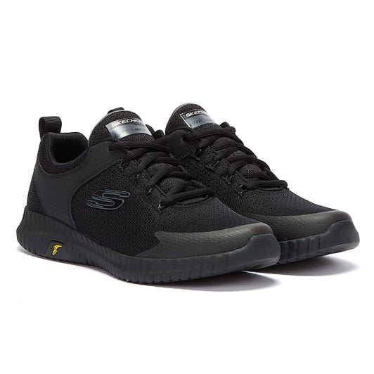 Skechers Elite Flex Mens Black Trainers