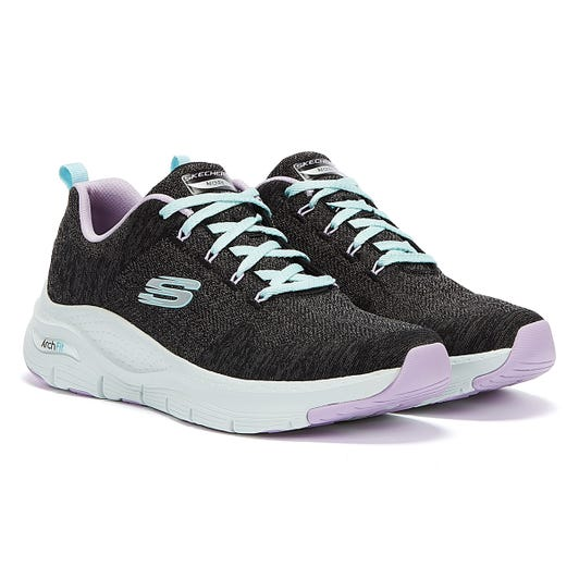 Skechers Arch Fit Comfy Wave Womens Black Multi Trainers