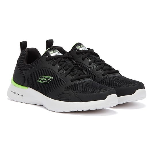 Skechers Skech-Air Mens Dynamight Black / Lime Trainers