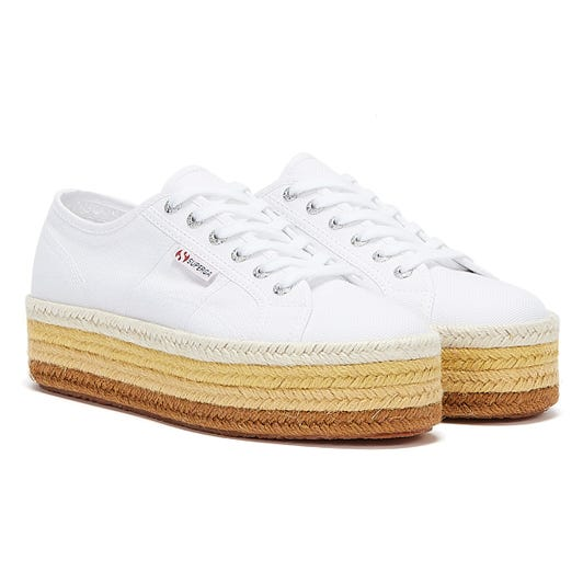 Superga 2790 COTROPE Womens White / Brown Trainers