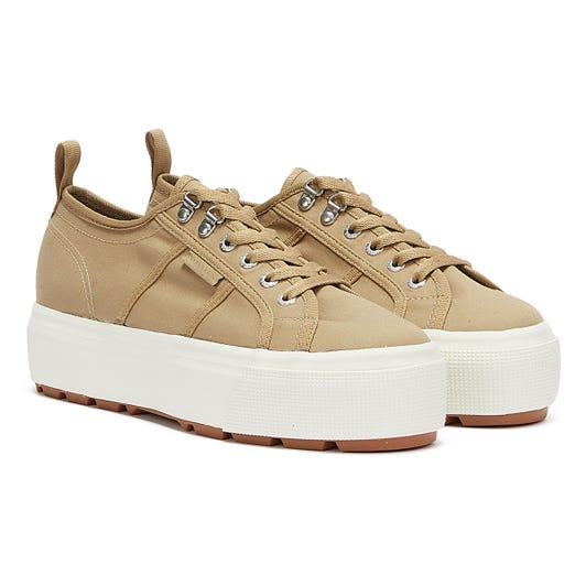 Superga 2790 Tank Trench Womens Beige Trainers