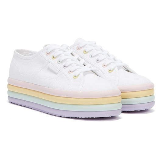 Superga 2790 Candy Cane Womens White / Violet / Green / Pink Trainers
