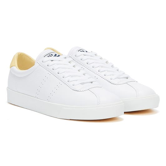 Superga 2843 Club S Comfort Leather Womens White / Beige Trainers