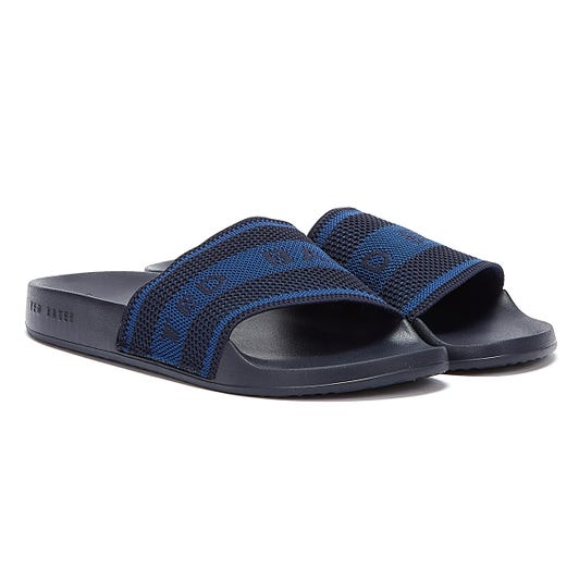 Ted Baker Danoup Mens Navy Slides