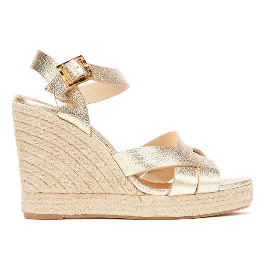 Ted Baker Selanam Womens Gold Wedge Sandals