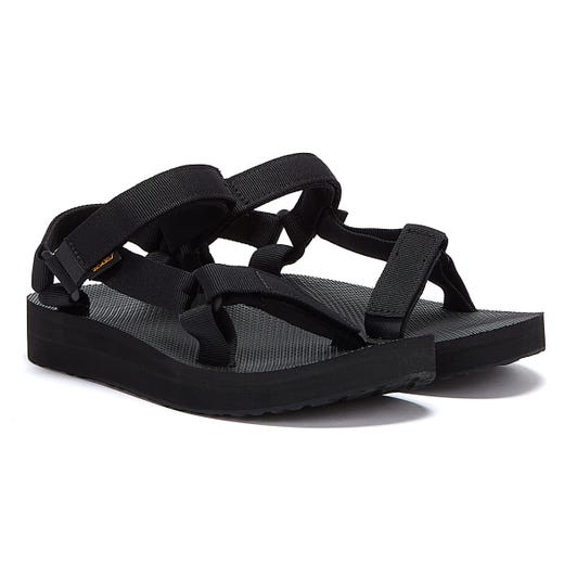 Teva Womens Black Midform Universal Sandals
