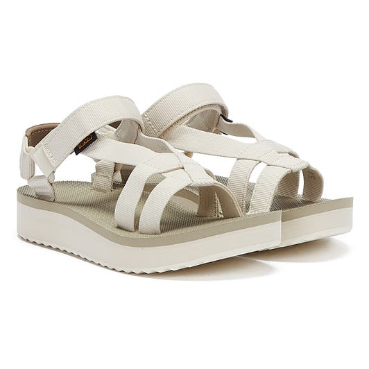 Teva Midform Arivaca Womens White Sandals