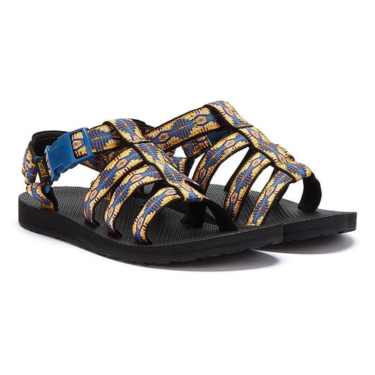 Teva Original Dorado Womens Blue / Orange Sandals