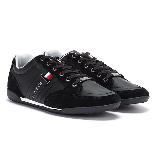 Tommy Hilfiger Corporate Cupsole Mix Mens Black Trainers