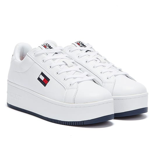 Tommy Hilfiger Iconic Flatform Womens White Trainers