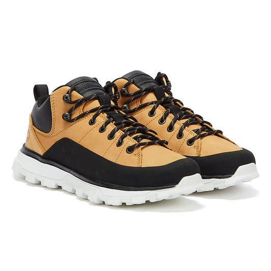 Timberland Treeline Low Leather Mens Wheat Yellow Trainers