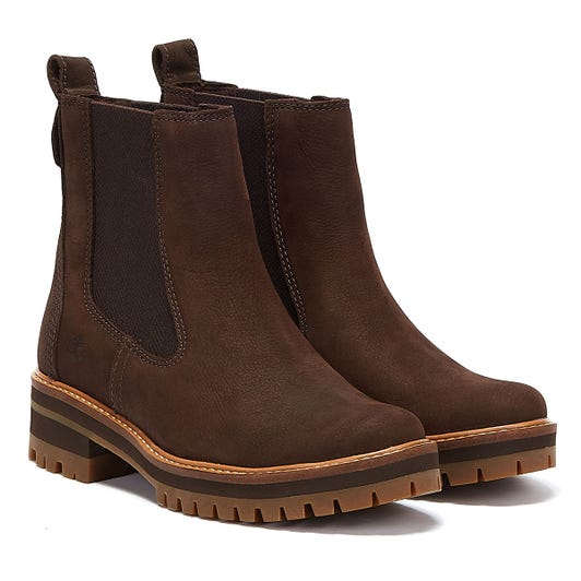 Timberland Courmayeur Valley Womens Dark Brown Chelsea Boots