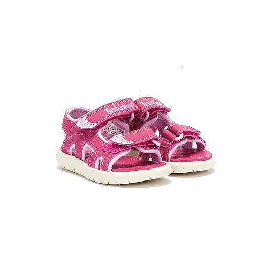 Timberland Toddlers Pink Perkins Row 2-Strap Sandals