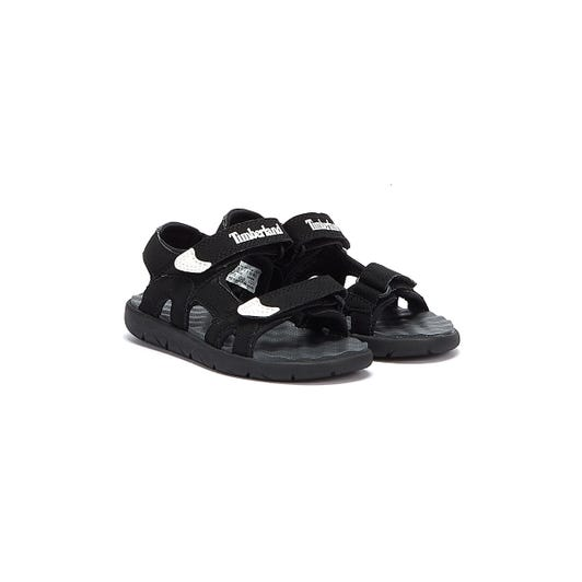 Timberland Perkins Row 2-Strap Toddlers Black Sandals