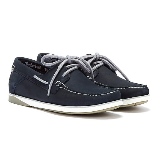 Timberland Atlantis Break Nubuck Boat Mens Navy Shoes