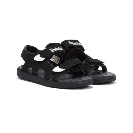 Timberland Perkins Row 2-Strap Youth Black Sandals